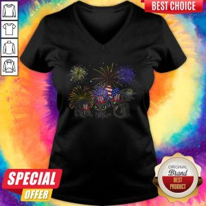 Pretty Night Fury American Flag 4th Of July Independence Day V-neck
