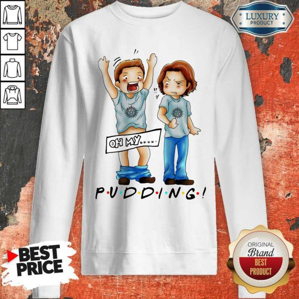 Pretty Sam And Dean Winchester On My Pudding Sweatshirt