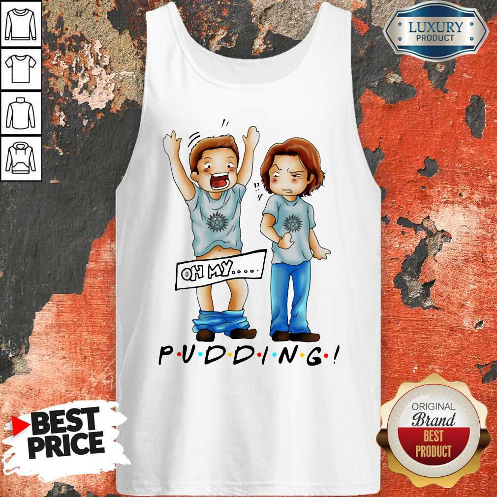 Pretty Sam And Dean Winchester On My Pudding Tank Top