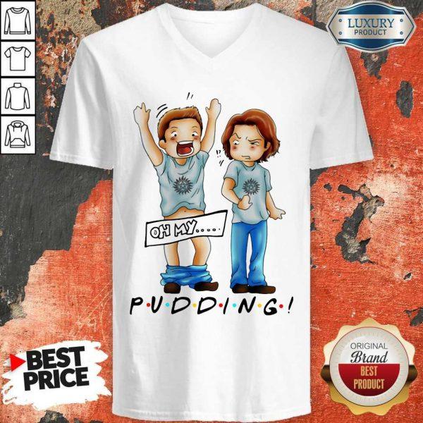Pretty Sam And Dean Winchester On My Pudding V-neck
