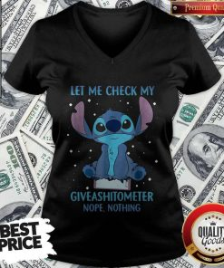 Pretty Stitch Let Me Check My Give A Shit Ometer Nope Nothing V-neck
