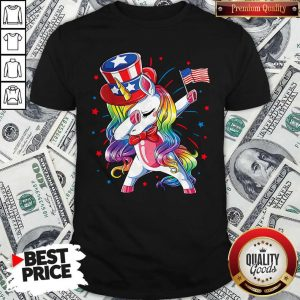 Pretty Unicorn Dabbing Happy Independence Day Shirt
