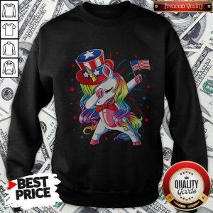 Pretty Unicorn Dabbing Happy Independence Day Sweatshirt