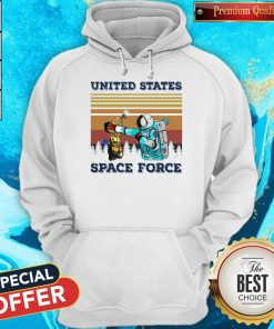 Top Astronaut Punch Alien In The Face United States Space Force Vintage Hoodie