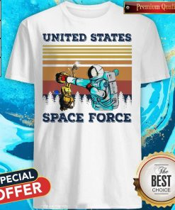 Top Astronaut Punch Alien In The Face United States Space Force Vintage Shirt