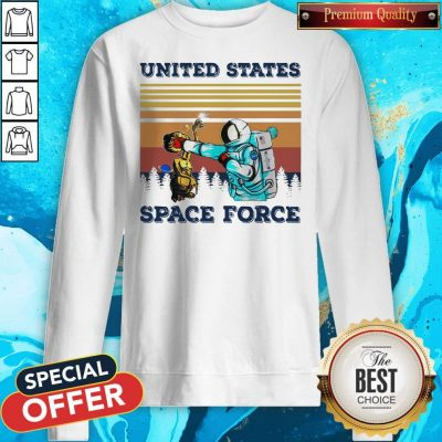 Top Astronaut Punch Alien In The Face United States Space Force Vintage Sweatshirt