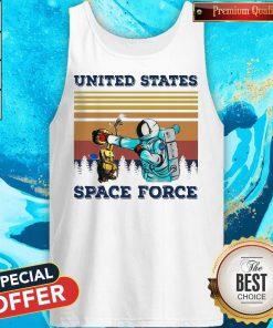 Top Astronaut Punch Alien In The Face United States Space Force Vintage Tank Top