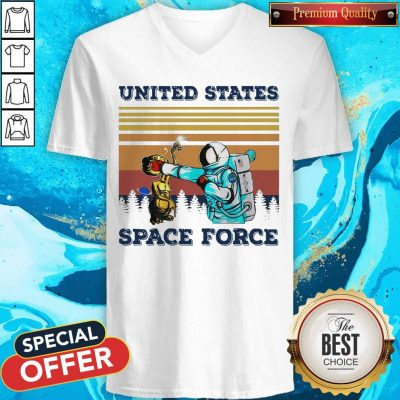 Top Astronaut Punch Alien In The Face United States Space Force Vintage V-neck