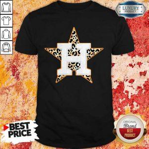 Top Houston Astros Leopard Shirt