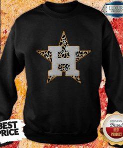 Top Houston Astros Leopard Sweatshirt