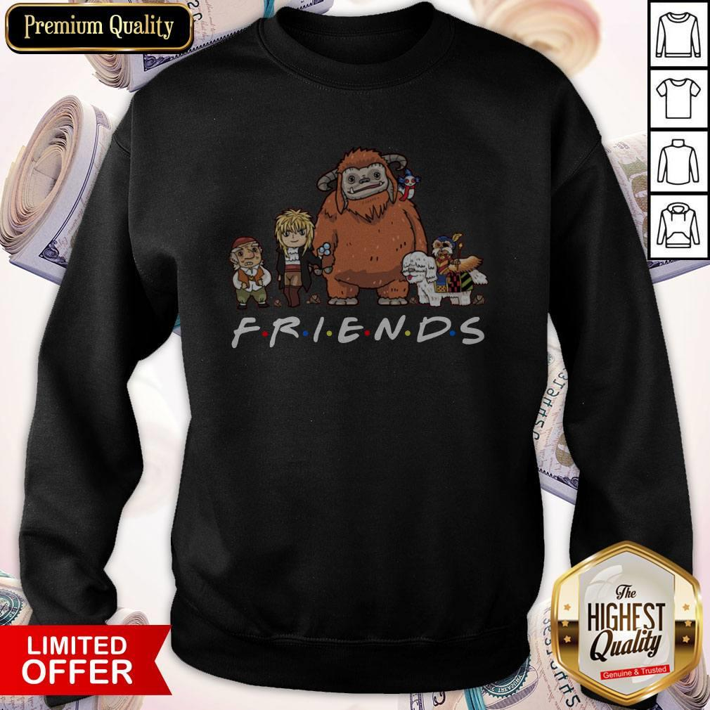Top Labyrinth Friends Funny Characters Worm Ludo Hoggle Sweatshirt