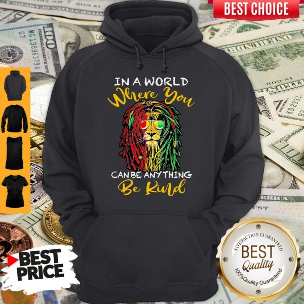Top Lion Glasses In A World Where You Can Be Anything Be Kind Hoodie