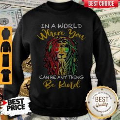 Top Lion Glasses In A World Where You Can Be Anything Be Kind Sweatshirt