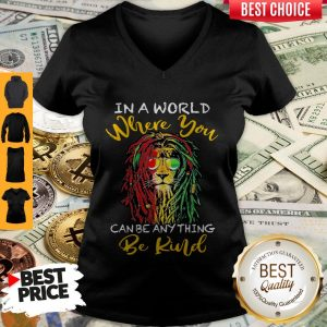 Top Lion Glasses In A World Where You Can Be Anything Be Kind V-neck