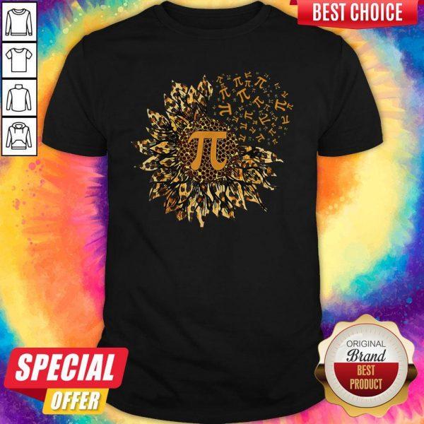 Top Pi Sunflowers Leopard Shirt