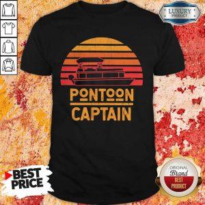 Top Pontoon Captain Vintage Retro Shirt