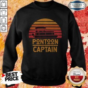 Top Pontoon Captain Vintage Retro Sweatshirt