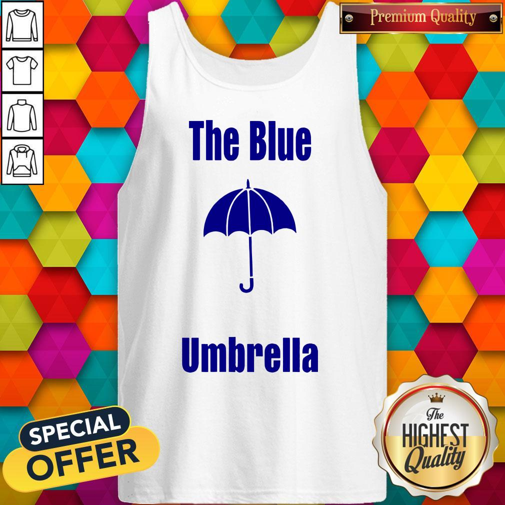 Top The Blue Umbrella Tank Top