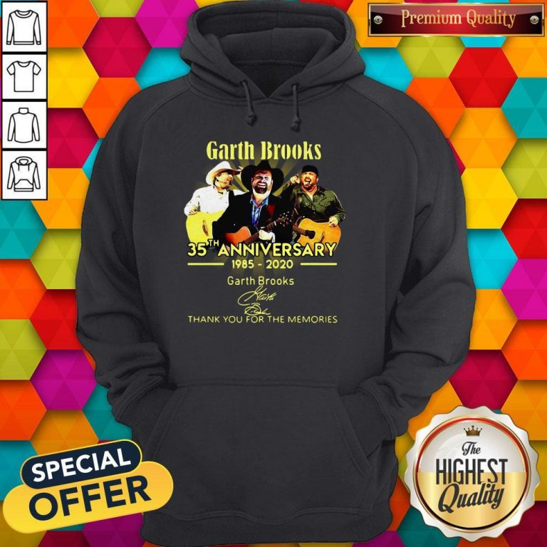 Good Garth Brooks 35th Anniversary 1985 2020 Thank You For The Memories Signatures Hoodie