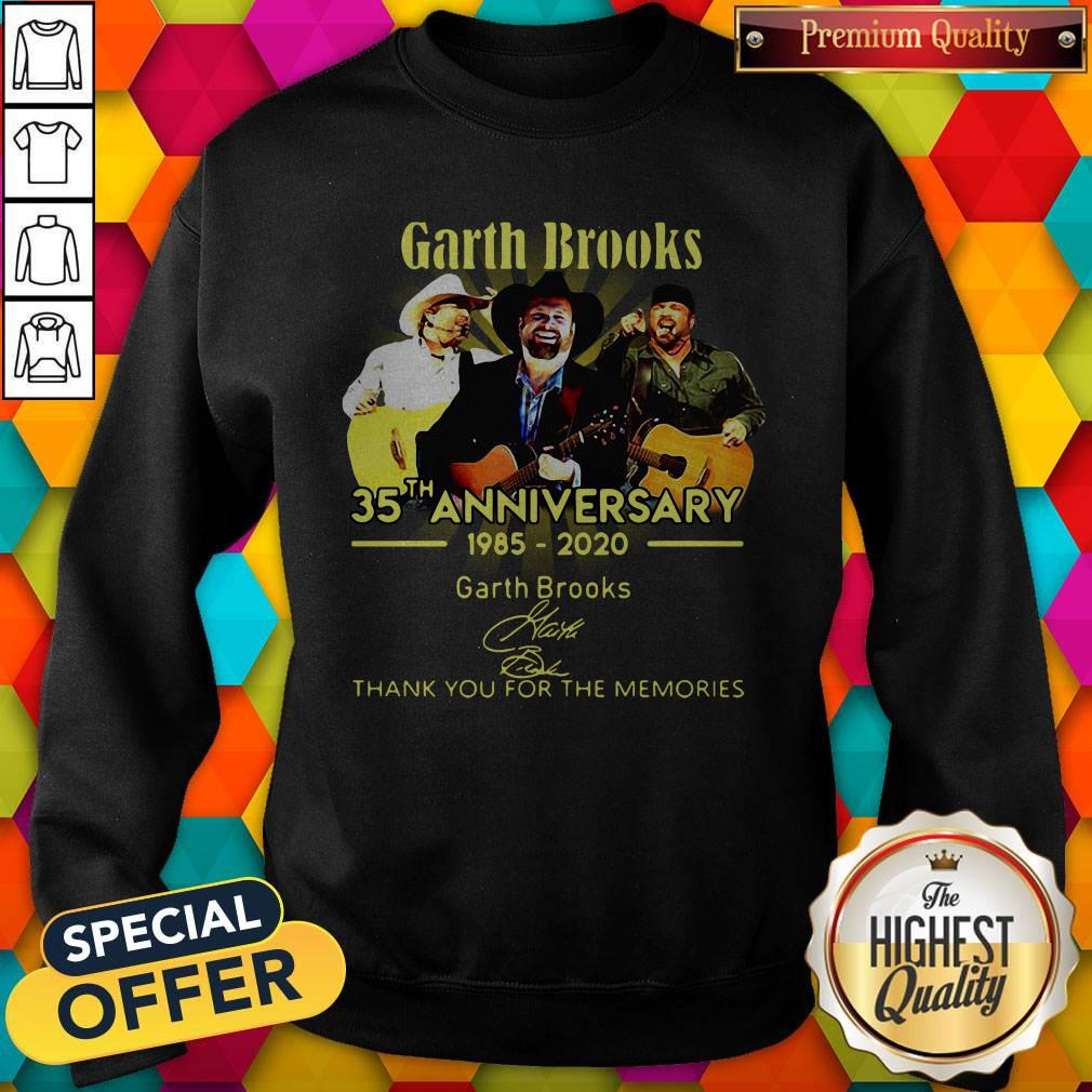 Good Garth Brooks 35th Anniversary 1985 2020 Thank You For The Memories Signatures Sweatshirt