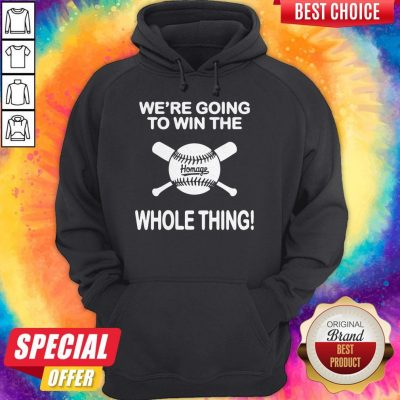 Awesome Baseball We're Going To Win The Whole Thing Hoodie