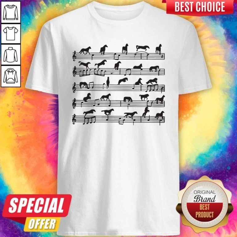 Awesome Horse Notes On Sheet Music Shirt - Design By Earstees.com