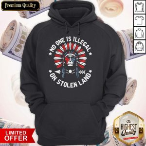 Awesome No One Is Illegal On Stolen Land Hoodie