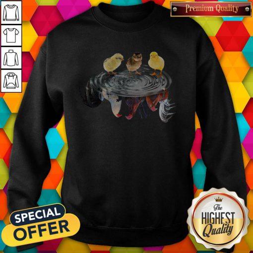 Funny Chicken Water Reflection Sweatshirt