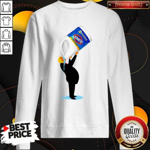 Funny Donald Trump Drinking Clorox Sweatshirt