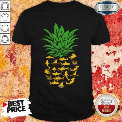 Funny Shark Pineapple Shirt