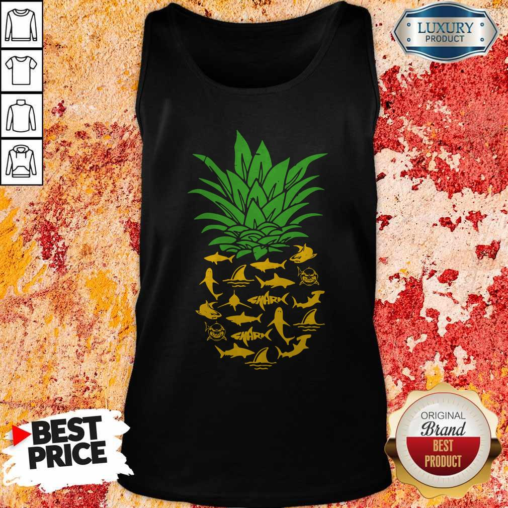 Funny Shark Pineapple Tank Top