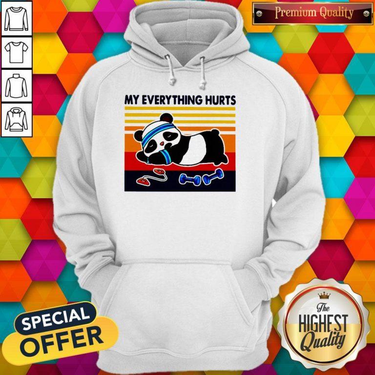 Good 2020 Panda My Everything Hurts Vintage Hoodie
