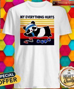 Good 2020 Panda My Everything Hurts Vintage Shirt