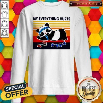 Good 2020 Panda My Everything Hurts Vintage Sweatshirt