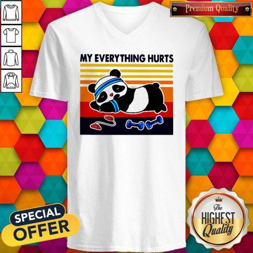 Good 2020 Panda My Everything Hurts Vintage V-neck
