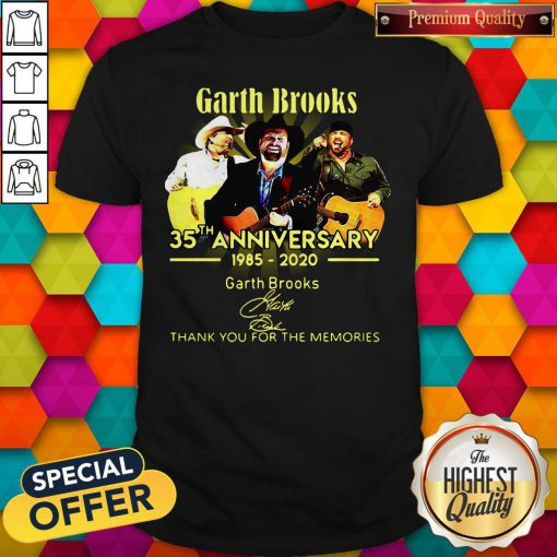 Good Garth Brooks 35th Anniversary 1985 2020 Thank You For The Memories Signatures Shirt