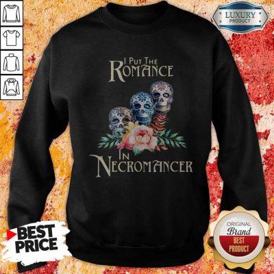 Good Necromancer Halloween Undead Skulls And Roses Sweatshirt