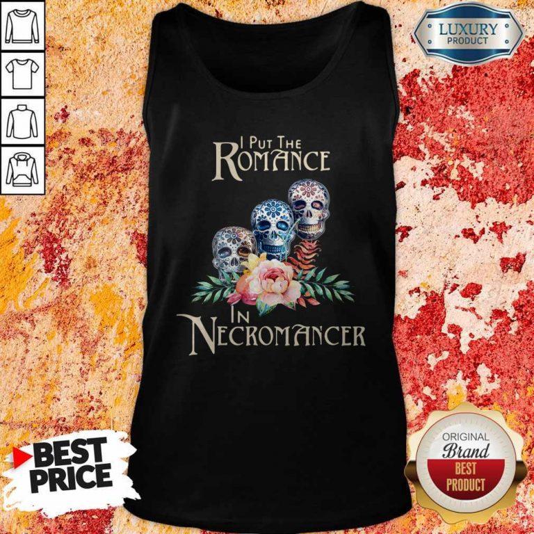 Good Necromancer Halloween Undead Skulls And Roses Tank Top