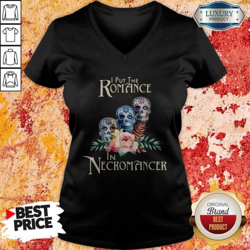 Good Necromancer Halloween Undead Skulls And Roses V-neck