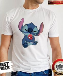 Nice Baby Stitch Hug Baby Spider Man Shirt