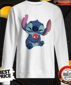 Nice Baby Stitch Hug Baby Spider Man Sweatshirt