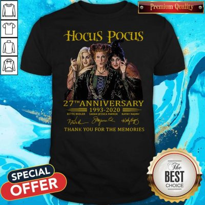 Nice Hocus Pocus 27th Anniversary 1993 2020 Thank You For The Memories Signatures Shirt