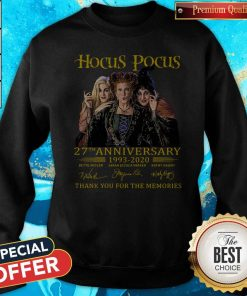 Nice Hocus Pocus 27th Anniversary 1993 2020 Thank You For The Memories Signatures Sweatshirt