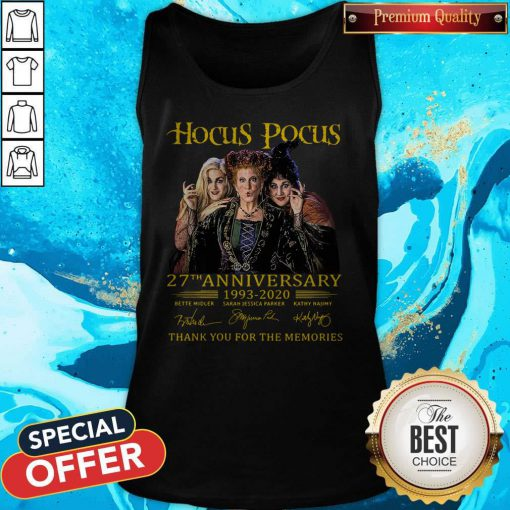 Nice Hocus Pocus 27th Anniversary 1993 2020 Thank You For The Memories Signatures Tank Top