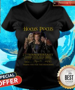 Nice Hocus Pocus 27th Anniversary 1993 2020 Thank You For The Memories Signatures V-neck