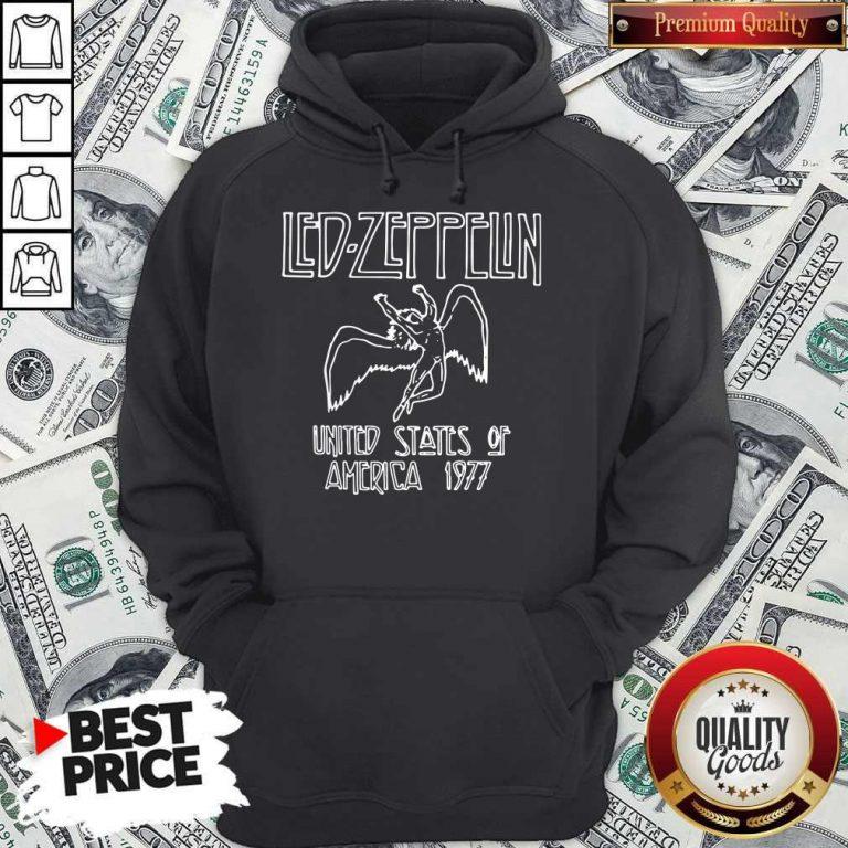 Nice Led Zeppelin United States Of America 1977 Hoodie