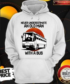 Nice Never Underestimate An Old Man With A Bus Blood Moon Hoodie