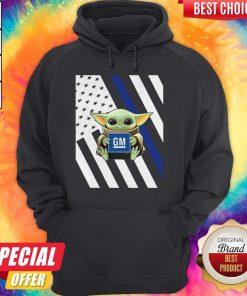 Official American Flag Baby Yoda Hug General Motors Hoodie