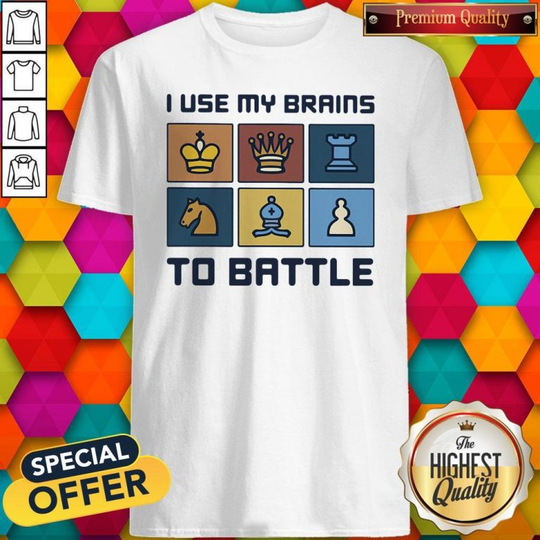 Official I Use My Brains To Battle Chess Vintage Retro Shirt