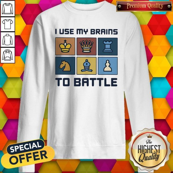 Official I Use My Brains To Battle Chess Vintage Retro Sweatshirt